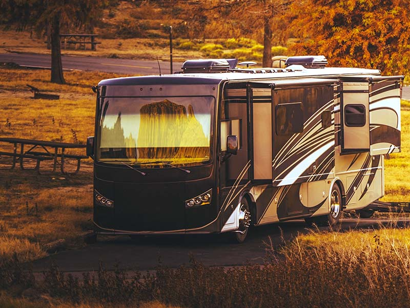 RV scheduled for repair and maintenance.